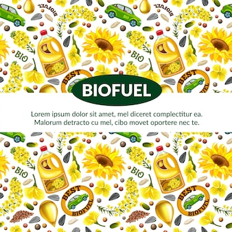 Pattern of biofuel from  rapeseeds.