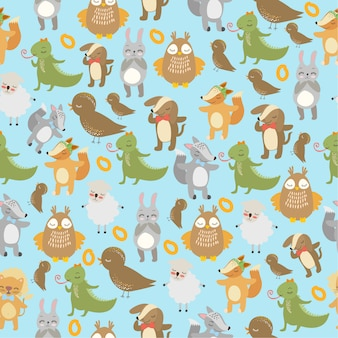 Pattern birds and animals