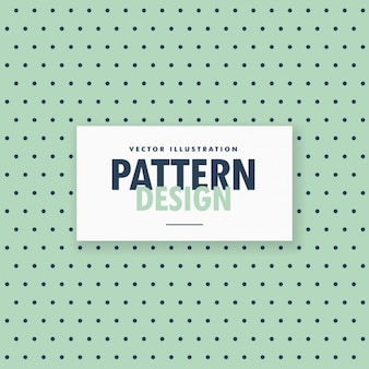 Pattern of black dots on a green background