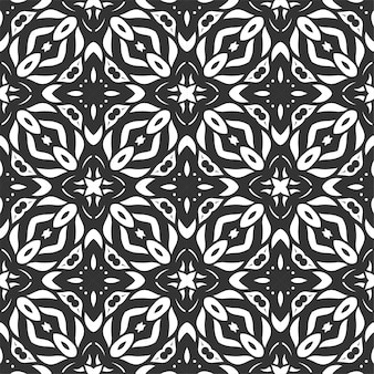 Pattern black and white shape. simple seamless ornament background