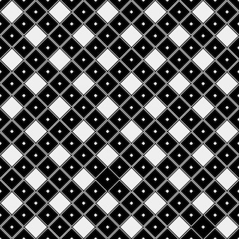 Pattern black and white in tile style