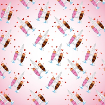 パターンチョコレートアイスクリーム