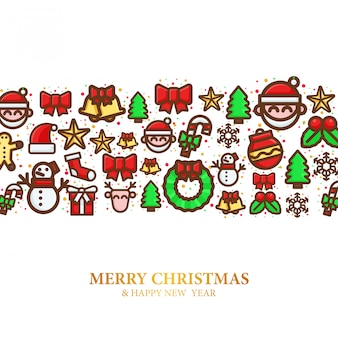 Pattern of christmas icon