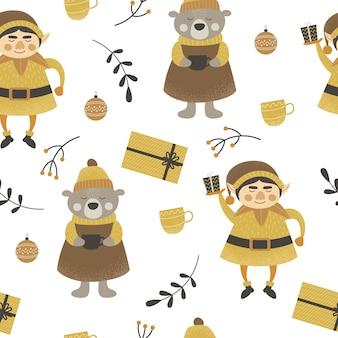 패턴 크리스마스