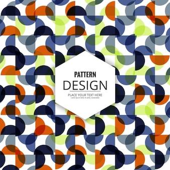 Pattern circular shapes and square