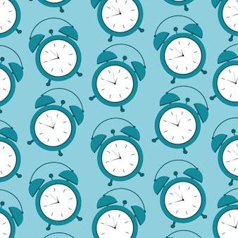 Pattern clock alarm time wake up symbol