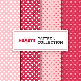 Pattern collection of hearts