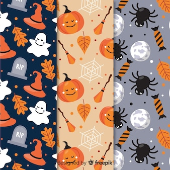 Pattern collection for a spooky halloween party