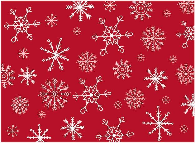 さまざまな形の雪片のバリエーションで構成されるパターン。