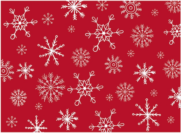 Pattern composed of a variation of snowflakes shaped differently.