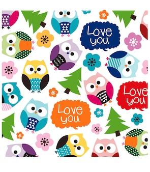 Pattern of cute owl