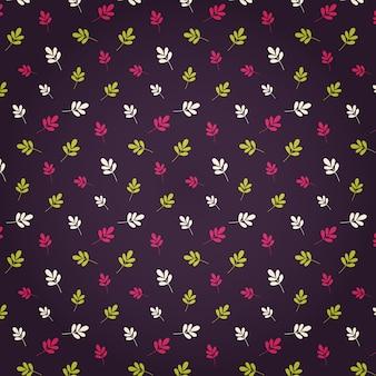 Pattern design colorful leaf