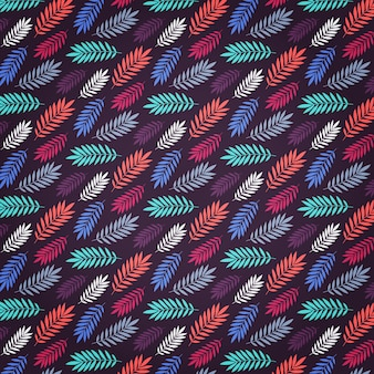 Pattern design colorful leaf