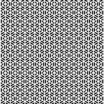 パターンデザインの幾何学的なシームレスなクールな背景黒と白