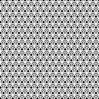 パターンデザインの幾何学的なシームレスな六角形の背景黒と白