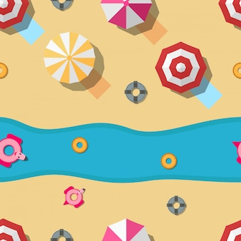 Pattern design for summer season. illustration in flat style for gift wrapping paper