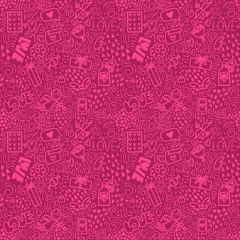 Pattern of doodle elements