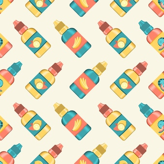 Pattern of e-liquid for vaping. flavored e liquid for electronic cigarette. realistic