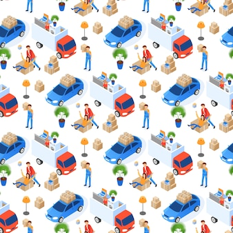Pattern easy moving  illustration isometric.