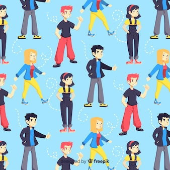 Pattern of flat young people