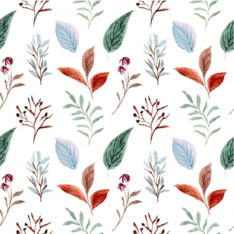 Pattern floral seamless flower leaf wallpaper abstract nature watercolor design illustration