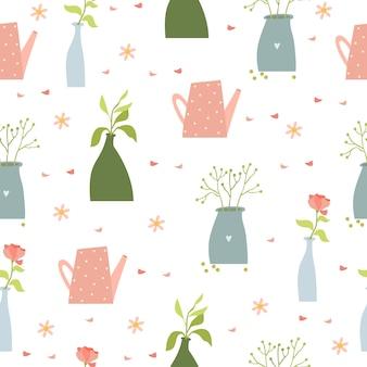 花瓶のパターンの花