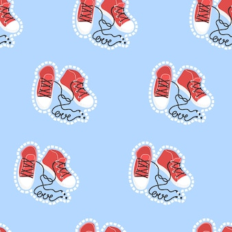 バレンタインデーのパターンベクトルイラスト印刷ポスター紙テキスタイルとカードのデザイン
