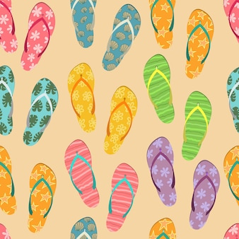 Pattern from  set of colorful flip flops