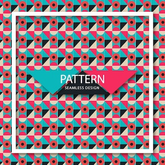 Pattern of geometric colored shapes