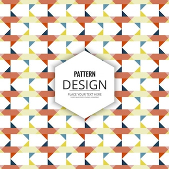 Pattern of geometric shapes in desaturated colors