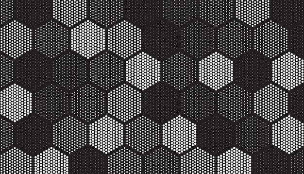 Pattern of geometric tiles filled with dots