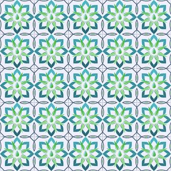 체크 라 기하학적 모양의 패턴 일러스트