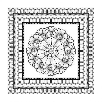 花とマンダラの形のパターン