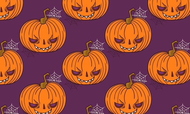 Pattern jack o lantern halloween spooky creepy pumpkin