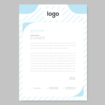 Pattern letterhead design