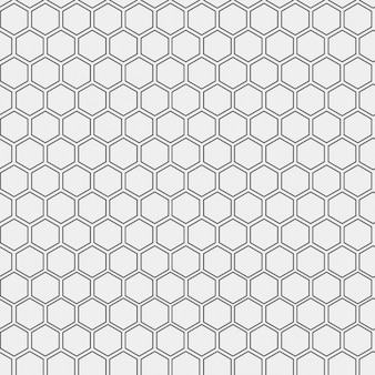 Pattern made with outlined hexagons