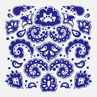 パターンメーカータタールオリエンタル落書きレトロな飾り要素イラストセット