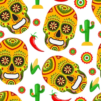 Pattern for mexican day of the dead