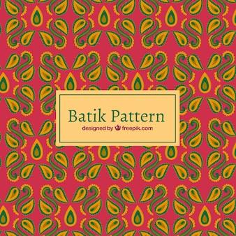 바틱 스타일의 추상 모양 패턴
