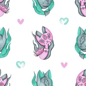 エイリアン猫と心のパターン