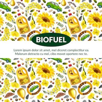 菜種からのバイオ燃料のパターン。