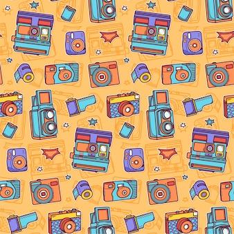 カラフルなカメラのパターン