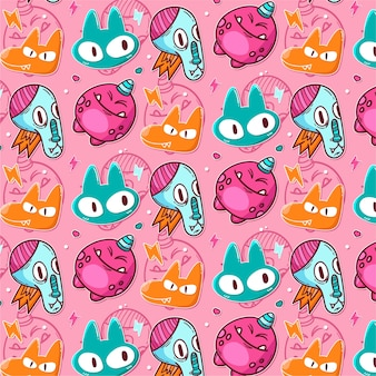 귀여운 괴물의 패턴