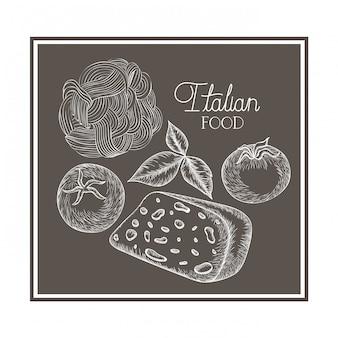 Шаблон вкусной итальянской кухни