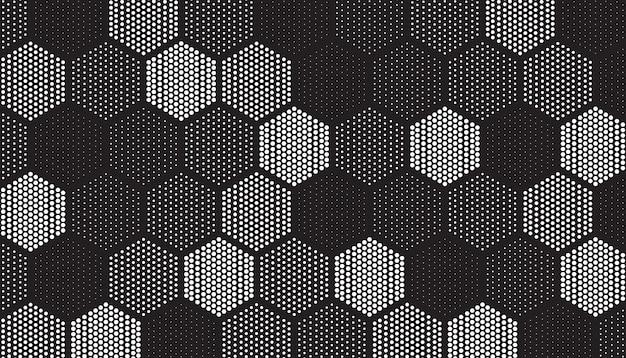 ドットで満たされた幾何学的なタイルのパターン