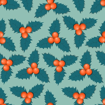 ヒイラギの果実の葉のパターン。
