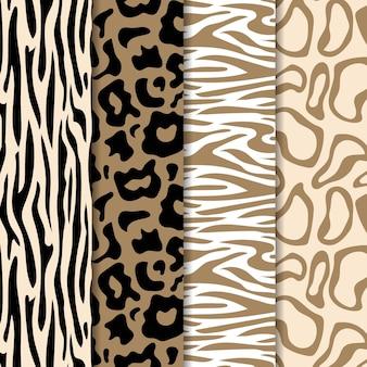 現代の野生動物の毛皮のパターン