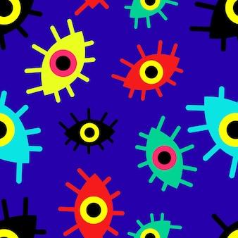 Шаблон разноцветных абстрактных глаз вектора