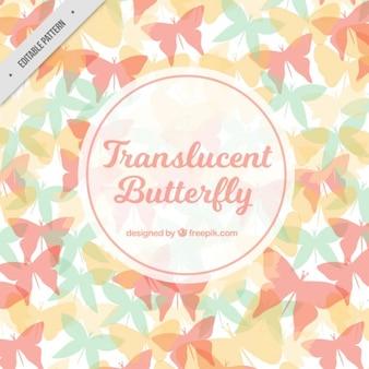 파스텔 색상의 패턴 나비