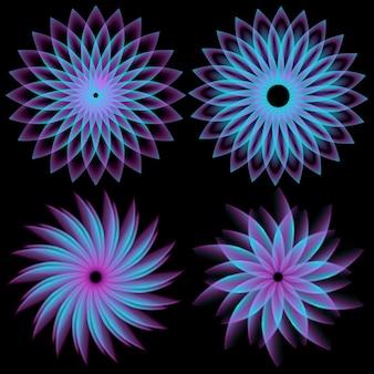 배경에 라운드 디자인 요소 spirograph의 패턴